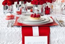 Red, Silver and White Wedding