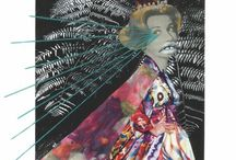 "Collage art by Vanessa Neuber / Série ""Máscaras Voadoras"" - www.neuberart.com"
