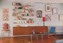 60's interior design / Inspiration for interior decoration in 60's style.