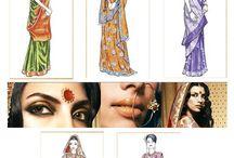 hindoestraanse sari