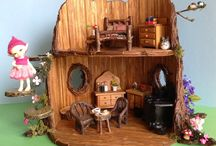 "Fairy Tree Dollhouse / A Fairy Tree Dollhouse Craft Project made for ""Twinkle"", a Fairyland RealPuki Soso BJD"