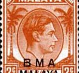 Malaya- British Military Acupetion Stamps
