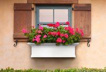 Home & Garden Window Boxes / Various style & color window boxes for the home and garden.