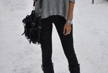 My winter scarf style