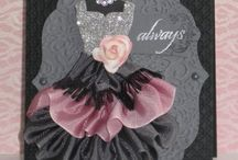Dress cards / Girlie pretty dresses made into beautiful cards