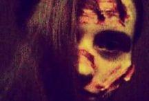 Halloween makeup tutorial... vlastní tvorba
