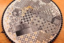 Needlework - Blackwork / blackwork, zwart-witwerk, zwart borduren, holbein.  / by Janneke Maat