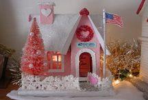 VALENTINE DAY PUTZ HOUSE / by Diane Ameres