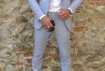 Men beach wedding