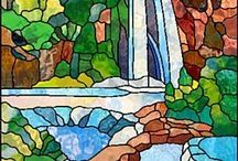 Stained Glass Waterfalls