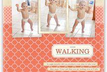 Walking scrapbook page