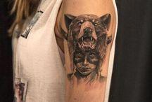 Tatuagens femininas de lobo