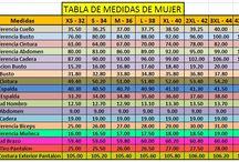 TABLAS DE MEDIDA DE MUJER