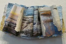 Handmade Paper Abstracts by Meg Black / Paintings and Sculptures made of durable fiber.