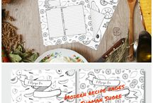 I ♡ Recipes   Printable Recipe Page Templates   Printable Meal Planners / Recipes, printable recipe page templates, blank recipe sheets, printable meal plan calendars, blank weekly meal planners, menu planning printable templates