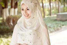 Vintage hijab wedding Dress
