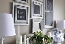 Chalkboard Paint / This is all the rage!  Check out these handy DIY'S using Benjamin Moore Chalkboard Paint!.