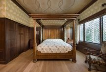 """William Morris Inspired Tudor Room / """"The work on the William Morris room was completed in April 2015. It has truly been a joy to see my dream become reality. I'm thankful for all the people who have labored to create a """"Heaven on Earth"""" for my husband and me."""""""