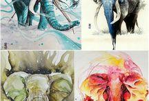 wátercolor animals
