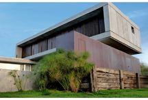 hormigón / concrete / Arquitectura minimalista, hormigón visto, acero corten