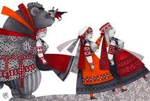seto ainelised illustratsioonid, art inpired of Seto