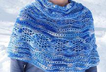 Knitting poncho Schouderwarmer  free pattern