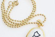 Cross stitch pendants and more