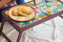 Breakfast In Bed Made Colourful! / All-new breakfast tables in the most eye-catching designs.