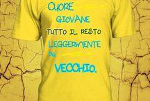 CUORE GIOVANE T.SHIRT / T-Shirt con Stampa 100% cotone