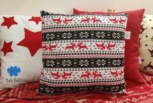 Merry Christmas / Świąteczne dekoracje do Twojego domu. Poduszki, personalizowane woreczki i skarpety świąteczne. / Christmas decorations for your home. Pillows, personalised Christmas Gift Sack and Christmas Santa Stocking.