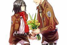 Jean y Mikasa