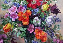 Flowers Kwiaty malowane