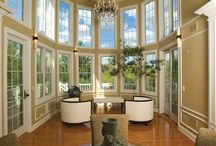 Home Addition in Long Grove / A couple that entertains for both business and pleasure wanted a grand room that would receive their guests in style, but also double as a sunny spot where the two of them could enjoy the view of their picturesque pool and garden.  / by Airoom® Architects, Builders & Remodelers
