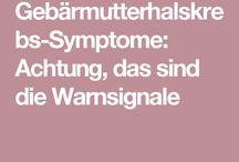Gebärmutterhalskrebs-Symtome