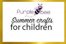 Summer Crafts for children / Summer crafts, creative activities and art projects for children in Summertime. Fun ideas to make in summer and games to play outdoors. Easy craft activities to keep kids engaged in an useful way during summer holidays #summer crafts #vacation #holidays