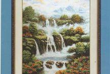 """вышивка """"водопады"""""""