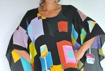 Natasha Foucault / Hand Painted Silk Wears