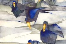 ILL: ANNA TORNQUIST / Odd water colors of birds and strange people. I like the colors.