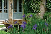 French Country inspired small gardens