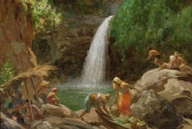 Filipino painters  Fernando Amorsolo, Painters / Arts crafts paintings, Philippine Island / by Gloria Villaluz
