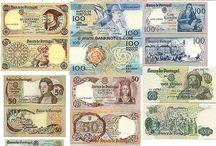 Notas e moedas Portugal