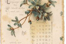 calendari vintage / calendari vintage illustrati
