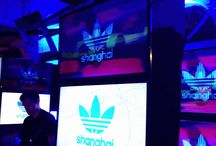 Adidas Originals VJ Graphics / Name&Name Design and Advertising created the graphic elements for the adidas Originals Shanghai Flagship Store VJ