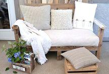 Build a pallet sofa