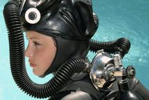 WomanWetsuits / Woman Fashion Wetsuits Heavy Gear Armour Latex Rubber