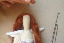 bambola tilda / modelli per corpo, capelli e vestiti tilda