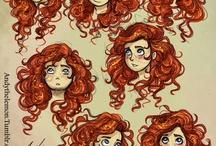 Drawing Hair, hair...