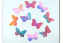 STICKERS SOIE / ailes de papillons et papillons de soie autocollants pour scrapbooking, carterie, home déco