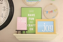 Craft Nook Ideas / I have a 50 sq foot space for crafting,creating, discovering and escaping from chores,bills, laundry and car pooling. These are my inspiration visuals. I have decided that it is better to create even if it is in a shoe box. / by Deana McGarr