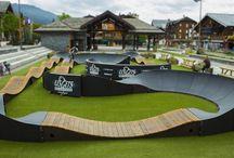 Skate park / beach volleyball / parkour / pump track